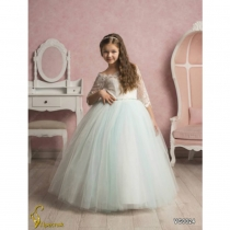 Платье детское Veronicaiko VG0024 (FG0496) NM0300Q_milk-turquoise