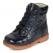 Ботинки для девочки, темно-синие 1107-1