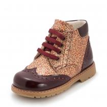 Ботинки для девочки, бордовые 1841-7