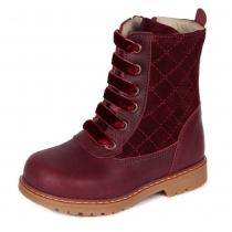 Ботинки для девочки, бордовые 1926-1