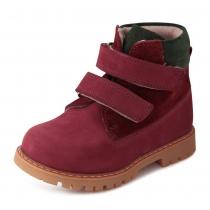 Ботинки для девочки, бордовые 514-3