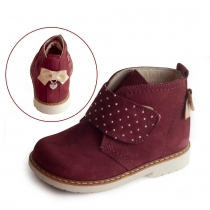 Ботинки для девочки, бордовые 538-5
