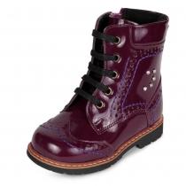 Ботинки для девочки, бордовые 571-31
