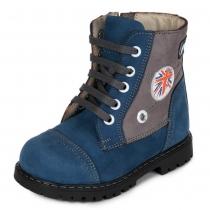 Ботинки для мальчика, синие 572-4