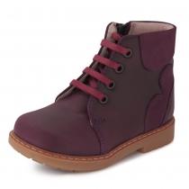 Ботинки для девочки, бордовые 585-7