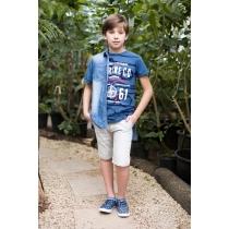 Рубашка джинсовая для мальчиков 717003