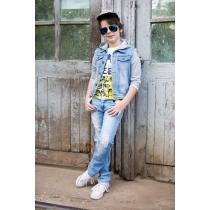 Брюки джинсовые для мальчиков 717028