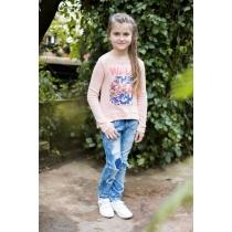 Брюки джинсовые для девочек 718025