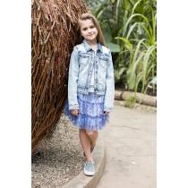 Жакет джинсовый для девочек 718035