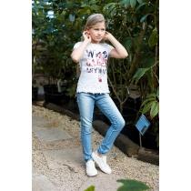 Брюки джинсовые для девочек 718167