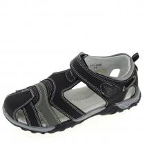 Сандалии для мальчика, черные 20-1140С