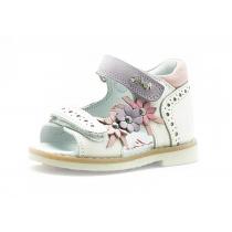 Открытые сандалии для девочки, белые 1041-5