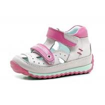 Закрытые сандалии для девочки, розовые 1205-1