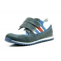 Спортивные ботинки для мальчика, сине-белые 1706-2