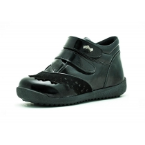 Утепленные детские ботинки для девочки, черные 68-1