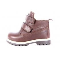 Коричневые высокие детские ботинки из кожи 750 68-05