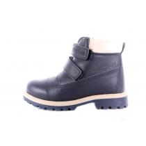 Синие высокие детские ботинки из кожи 750 71-05
