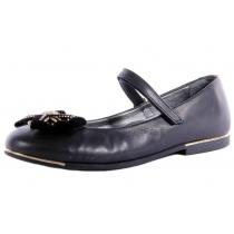 Детские туфли для девочки, черные 3275-01