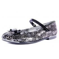 Детские туфли для девочки, черные 3278-02