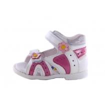 Белые детские сандалии с ромашками для девочки 4005 27-275-274