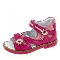 Открытые сандалии для девочки, ярко-розовые 1602-4
