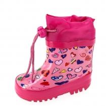 Резиновые сапоги для девочки, розовые A-B65-50