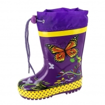 Резиновые сапоги для девочки, фиолетовые A-B65-62