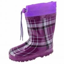 Резиновые сапоги фиолетовые, для девочки A-B65-77