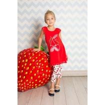 Комплект трикотажный для девочек: майка, лосины 714158