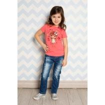 Брюки джинсовые для девочек 714173