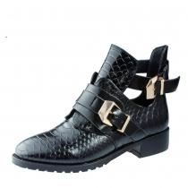 Ботинки для девочки, черные A-B82-37-A