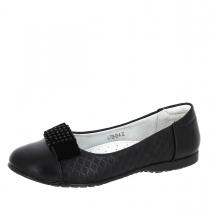 Балетки для девочки, черные A-T68-03-A