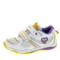 Кроссовки для девочки, белый/желтый/фиолетовый A-T60-81-B